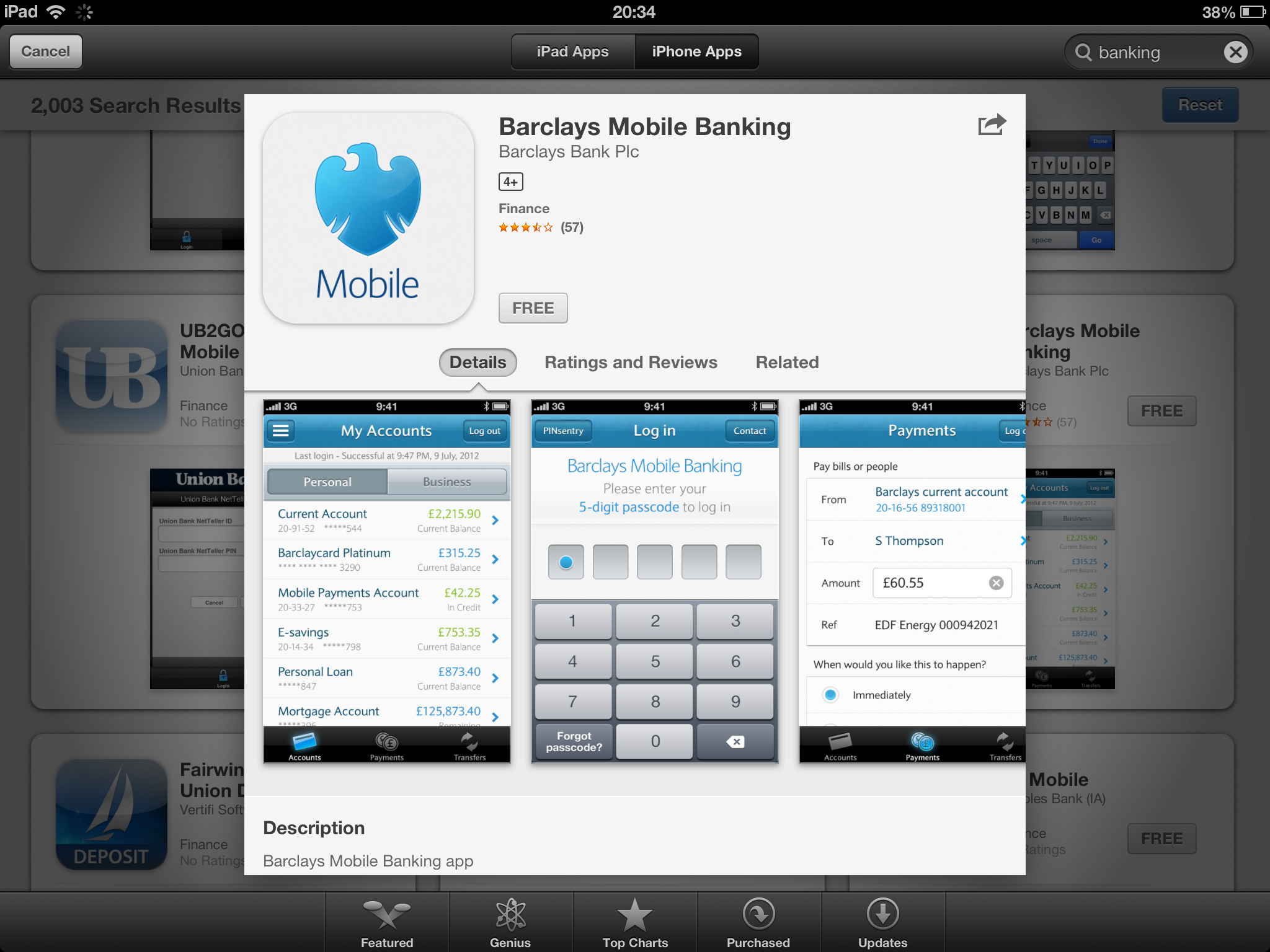 Barclays Mobile Banking App iPhone April 2013