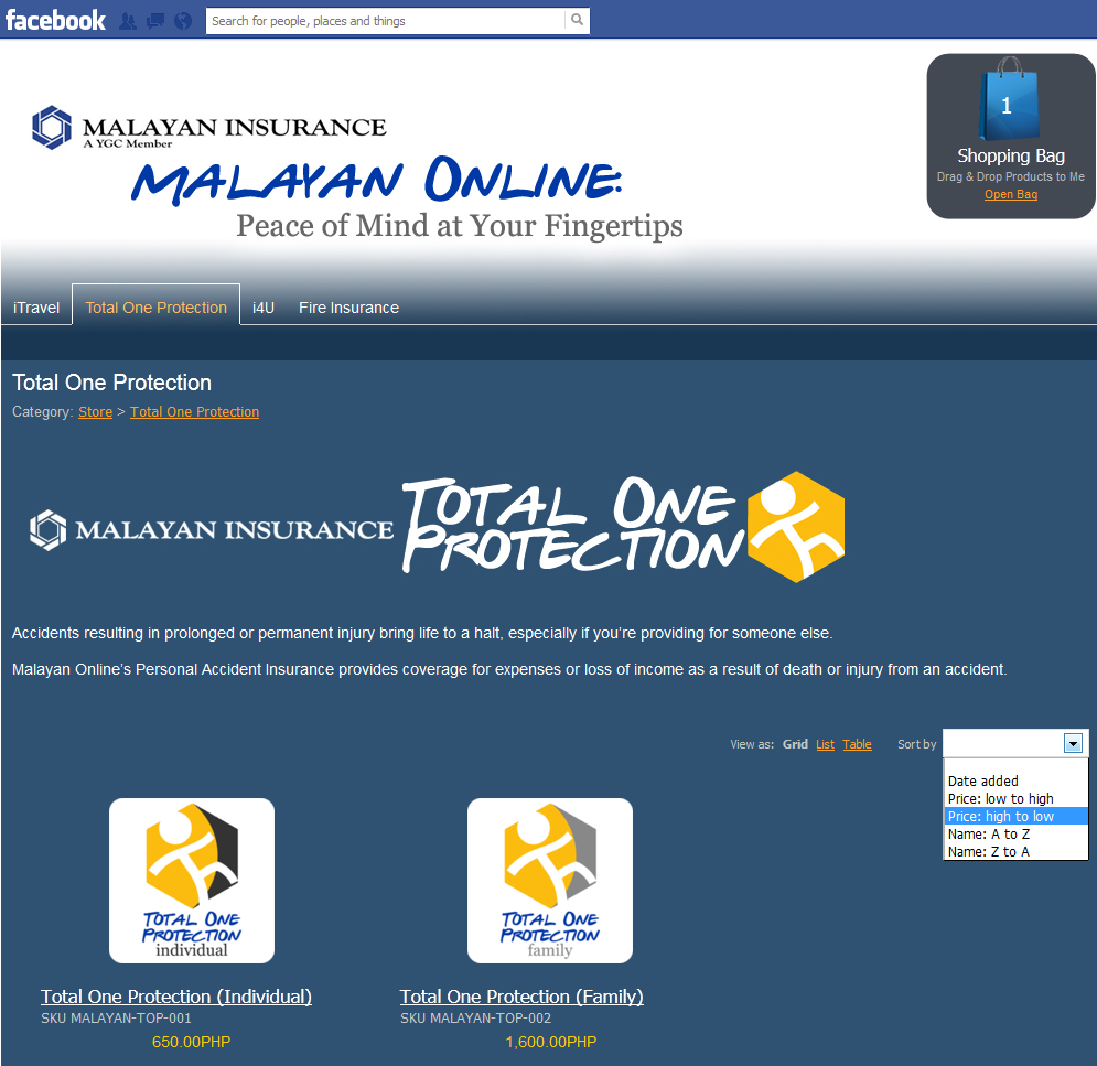 Malayan Insurance Launches First Facebook Insurance Online Store Innovation