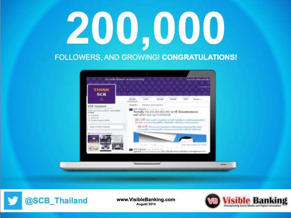 Siam Commercial Bank Twitter Followers 200k Social Media Banking August 2014