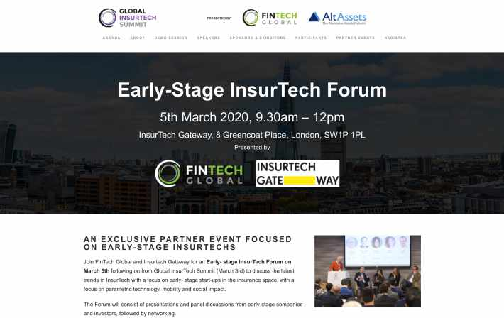 Early Stage Insurtech Forum 2020